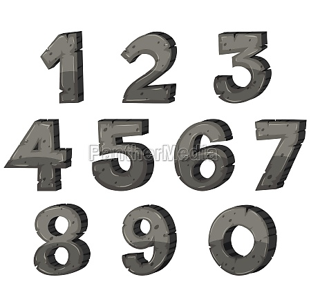 block letter design for numbers