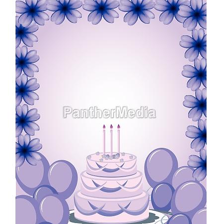 a purple birthday template
