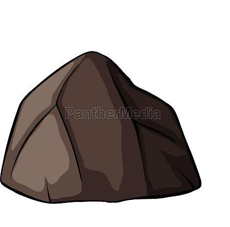 one grey rock