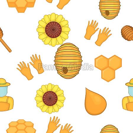 apiary pattern cartoon style