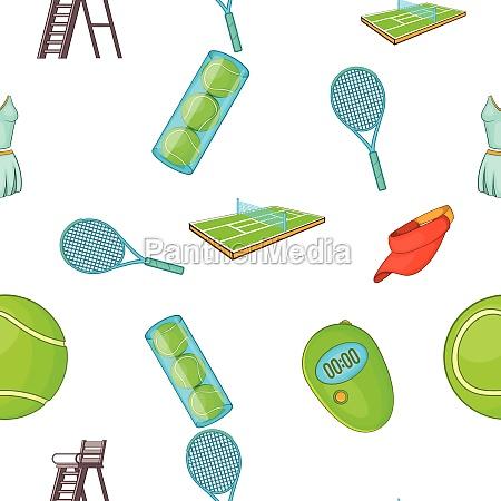 tennis pattern cartoon style