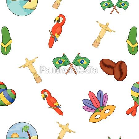 brazil pattern cartoon style