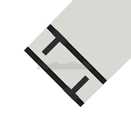 tonfa traditional asian weapon icon flat