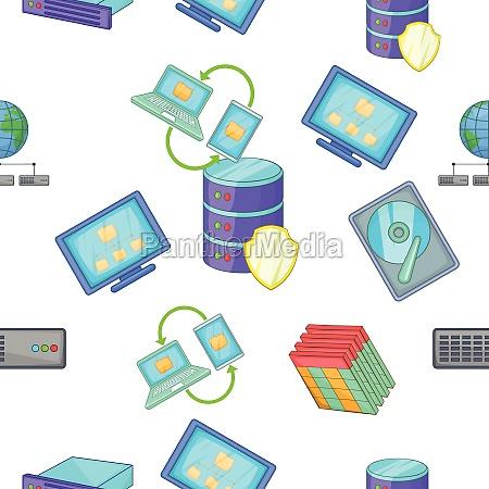 computer pattern cartoon style