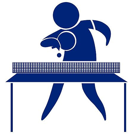 table tennis icon in blue
