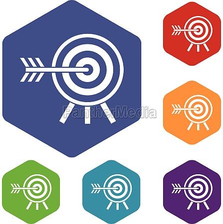 darts icons set