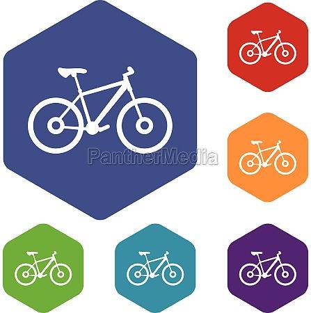 bike icons set