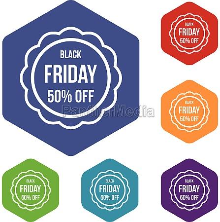 sale sticker 50 percent off icons