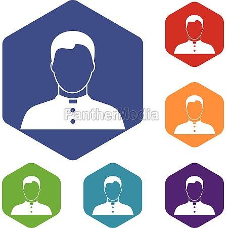 pastor icons set