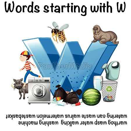 educational poster design for words starting