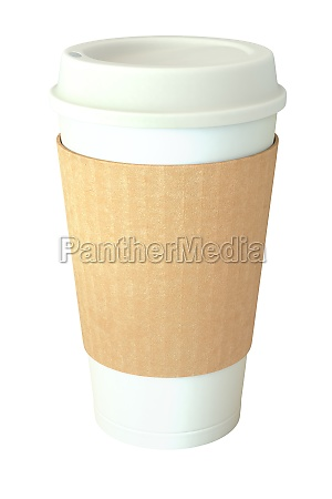 blank takeaway coffee cup cover and