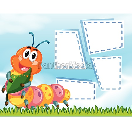 animal frame template poster with blank