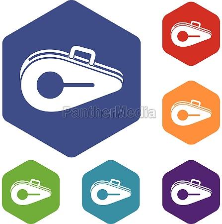 tennis bag icons set
