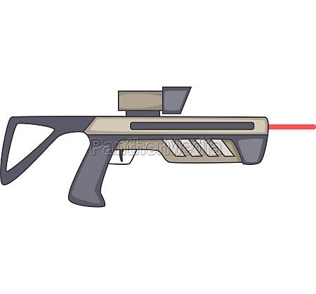 futuristic ray gun weapon icon cartoon