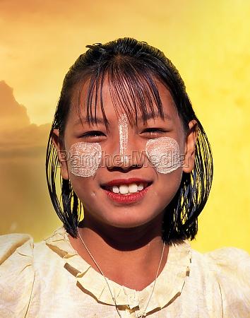 myanmar mandalay portrait of smiling teenage