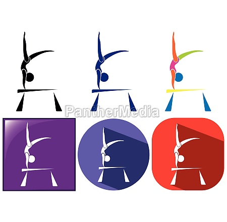sport icon design for gymnastics with