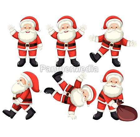 a set of santa poses