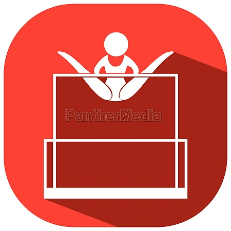 icon for gymnastics on uneven bars