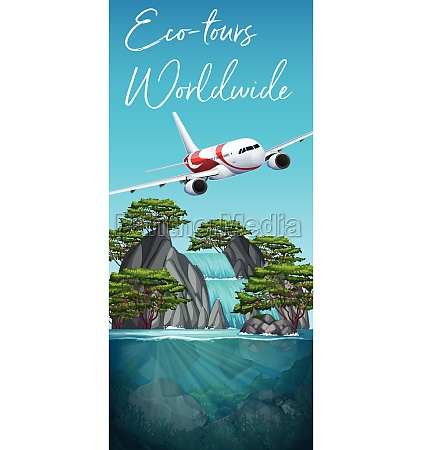 eco tours worldwide plane scene