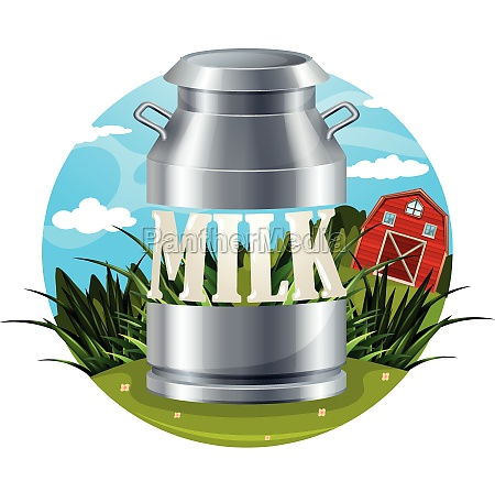 milk food label with text