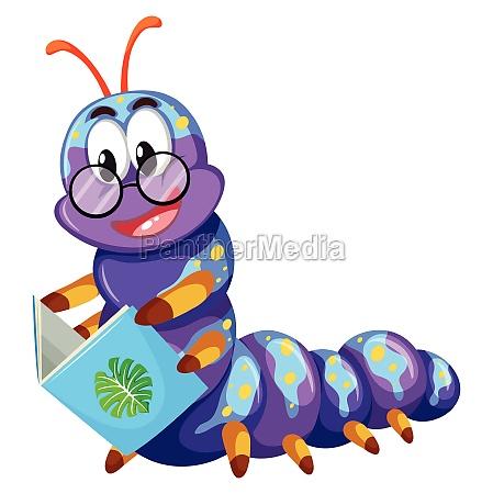 purple caterpillar reading book