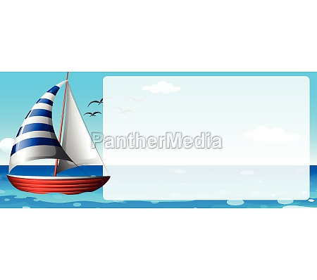 border design with sailboat