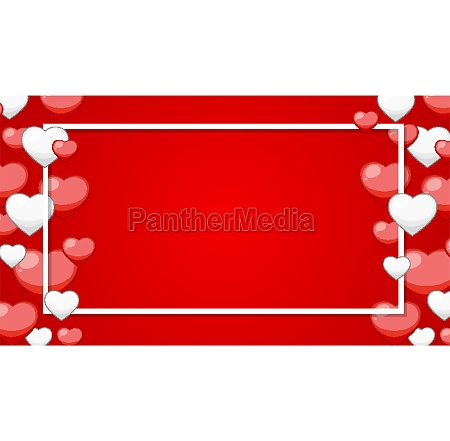 valentine theme with white and red