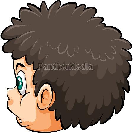 a head of a boy