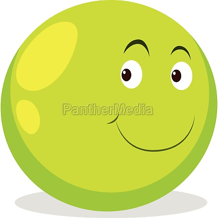 happy face on round ball
