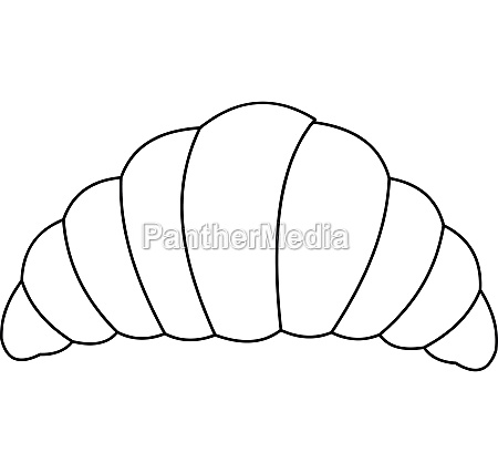 croissant icon outline style