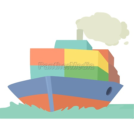 ship icon cartoon style