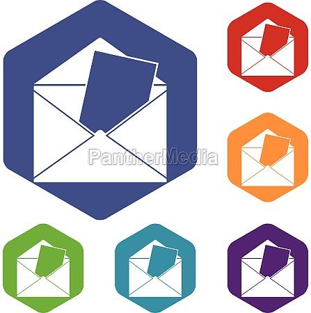 envelope icons set