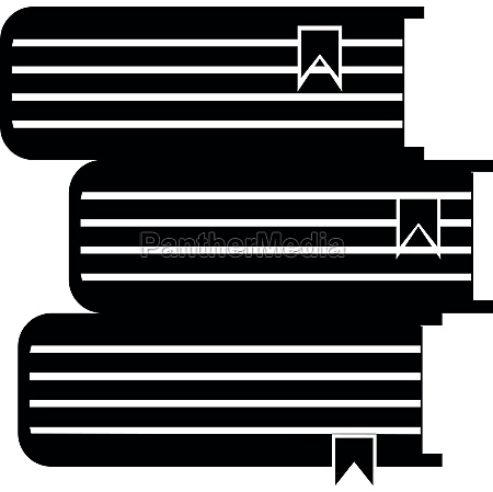 foreign books icon simple style