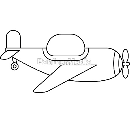 childrens toy plane icon outline style