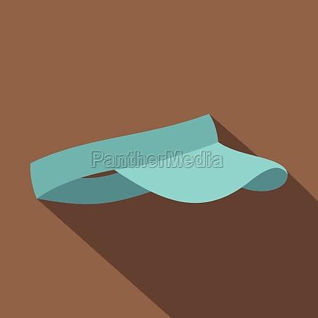 blue visor icon flat style