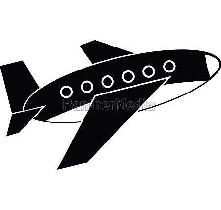 airplane icon simple style