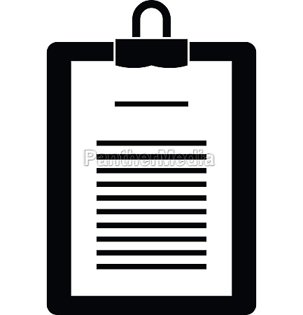 clipboard with checklist icon simple style