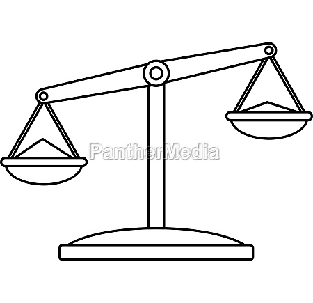 pharmaceutical scales icon outline style