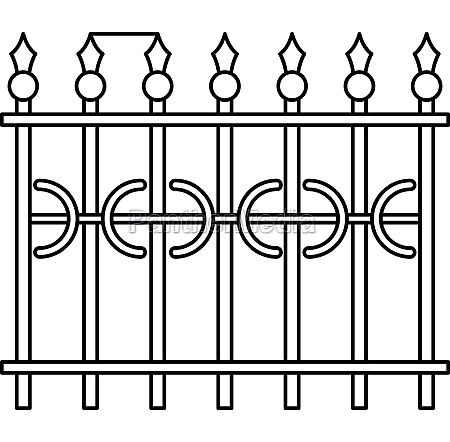 park fence icon outline style