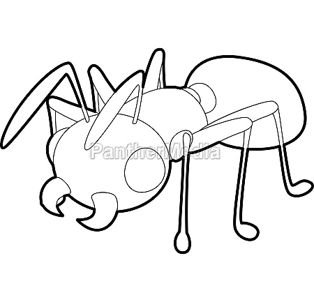 ant icon outline style