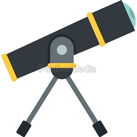 telescope icon flat style