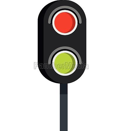 semaphore trafficlight icon flat style