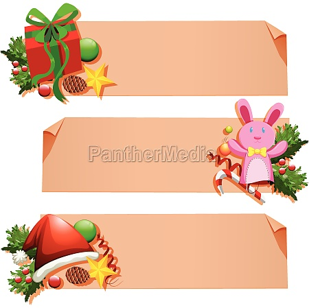 banner template with christmas elements