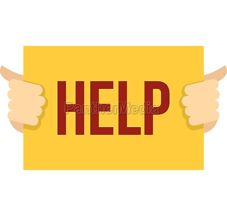 help icon flat style