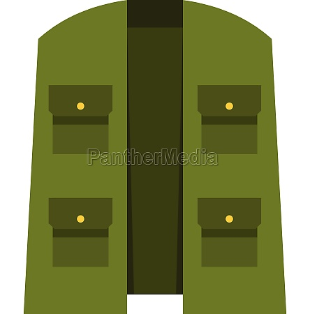 green hunter vest icon flat style