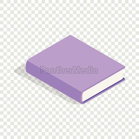 purple book isometric icon