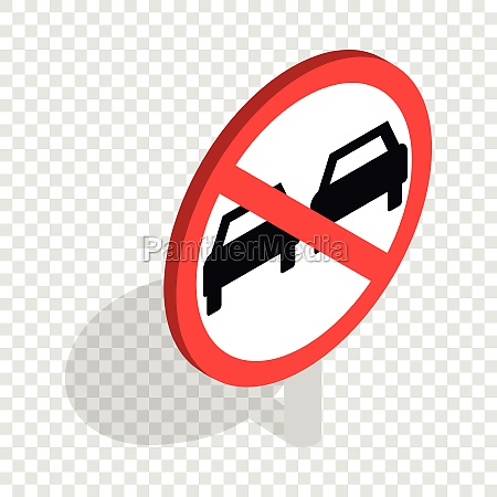 no overtaking sign isometric icon