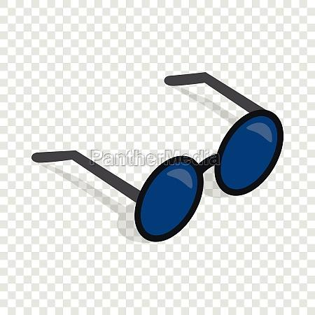glasses isometric icon