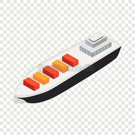 cargo ship isometric icon