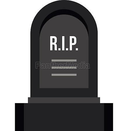 headstone icon flat style